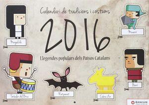 CALENDARI TRADICIONS I COSTUMS:LLEGENDES 2016