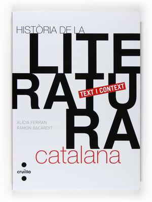 HISTÒRIA DE LA LITERATURA CATALANA. TEXT I CONTEXT