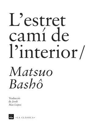 L'ESTRET CAMÍ DE L'INTERIOR